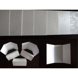 Papier srebrny bigowany zaproszenia 10 A5 7 faktur