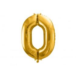 """Balon foliowy Cyfra """"0"""", 86cm, złoty"""