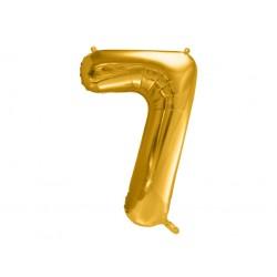 """Balon foliowy Cyfra """"7"""", 86cm, złoty"""