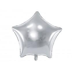 Balon foliowy Gwiazdka, 48cm, srebrny