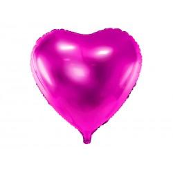 Balon foliowy Serce, 45cm, ciemny róż