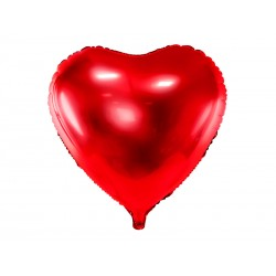 Balon foliowy Serce, 45cm, czerwony