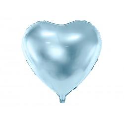 Balon foliowy Serce, 45cm, błękitny
