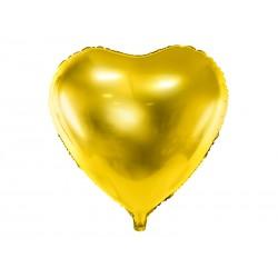 Balon foliowy Serce, 45cm, złoty