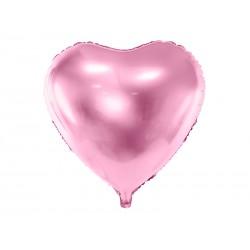 Balon foliowy Serce, 45cm, jasny różowy