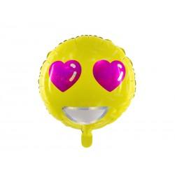 Balon foliowy Emotikon - Love, 45cm