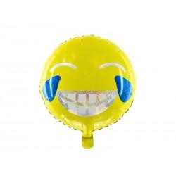 Balon foliowy Emotikon - Uśmiech, 45cm