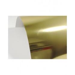 Papier ozdobny lustrzany złoty lustro Mirror Gold 300g...