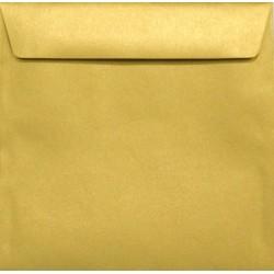 Koperty perłowe złote K4 156x156 na zaproszenia
