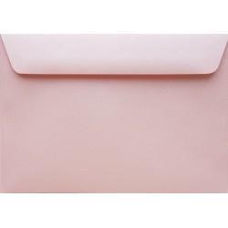 Koperty perłowe różowe C6 5 szt na zaproszenia