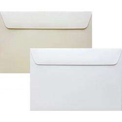 Koperty perłowe białe/krem C6 5 szt na zaproszenia