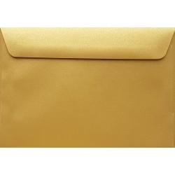 Koperty perłowe złote C6 5 szt na zaproszenia