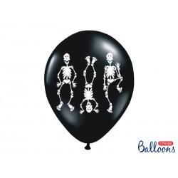 HALLOWEEN Balon Kościotrup gumowy (6szt)