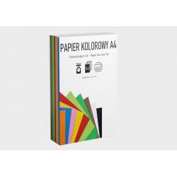 Zestaw papier kolorowy i eko 10 kolorów 160g 50A4