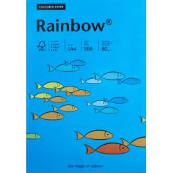 Papier gładki ciem niebieski 80g A4 Rainbow ryza