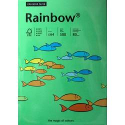 Papier gładki ciemny zielony 160g A4 Rainbow 25szt