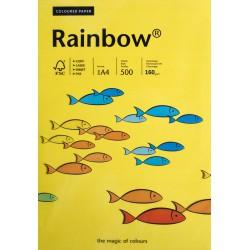 Papier gładki ciemny żółty 160g A4 Rainbow 25 szt