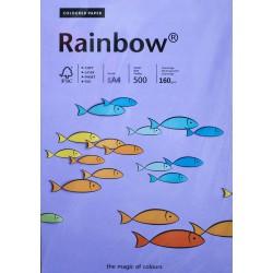 Papier gładki fioletowy 160g A4 Rainbow ryza