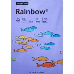 Papier gładki fioletowy 160g A4 Rainbow kpl 25szt.