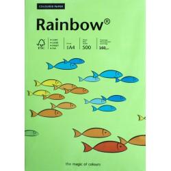 Papier gładki jasny zielony 160g A4 Rainbow ryza
