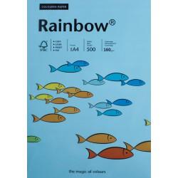 Papier gładki morski 160g A4 Rainbow ryza