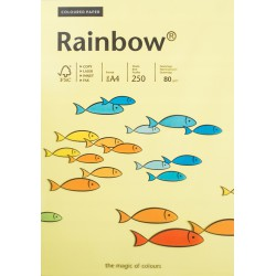 Papier gładki jasny żółty 80g A4 Rainbow kom 50szt