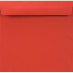 Koperty ozdobne K4 czerwone zaproszenia 10szt