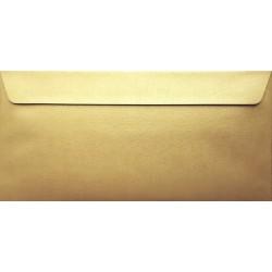Koperty perłowe złote DL 5 szt na zaproszenia