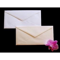 Koperty perłowe trójkąt DL  125g 5sz na zaproszenia