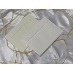 Koperty biała/krem delikatne prążki C6 zaproszenia