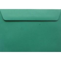 Koperty ozdobne C6 ciemne zielone zaproszenia 10 szt.