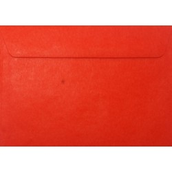 Koperty ozdobne C6 czerwone zaproszenia 10szt