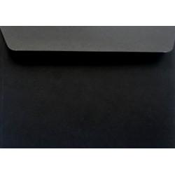 Koperty ozdobne C6 czarne 120g zaproszenia 10szt