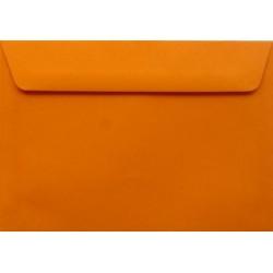 Koperty ozdobne C6 pomarańczowe zaproszenia 10szt