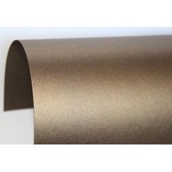 Papier perłowy 120 g na zaproszenia brązowy
