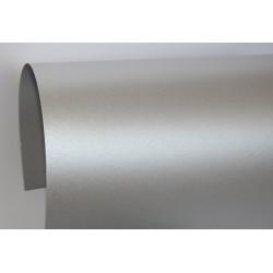 Papier perłowy 120 g na zaproszenia ciemny srebrny