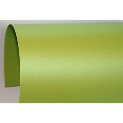 Papier perłowy 250g zaproszenia satynowy zielony