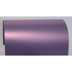Papier perłowy 250g zaproszenia satynowy fioletowy